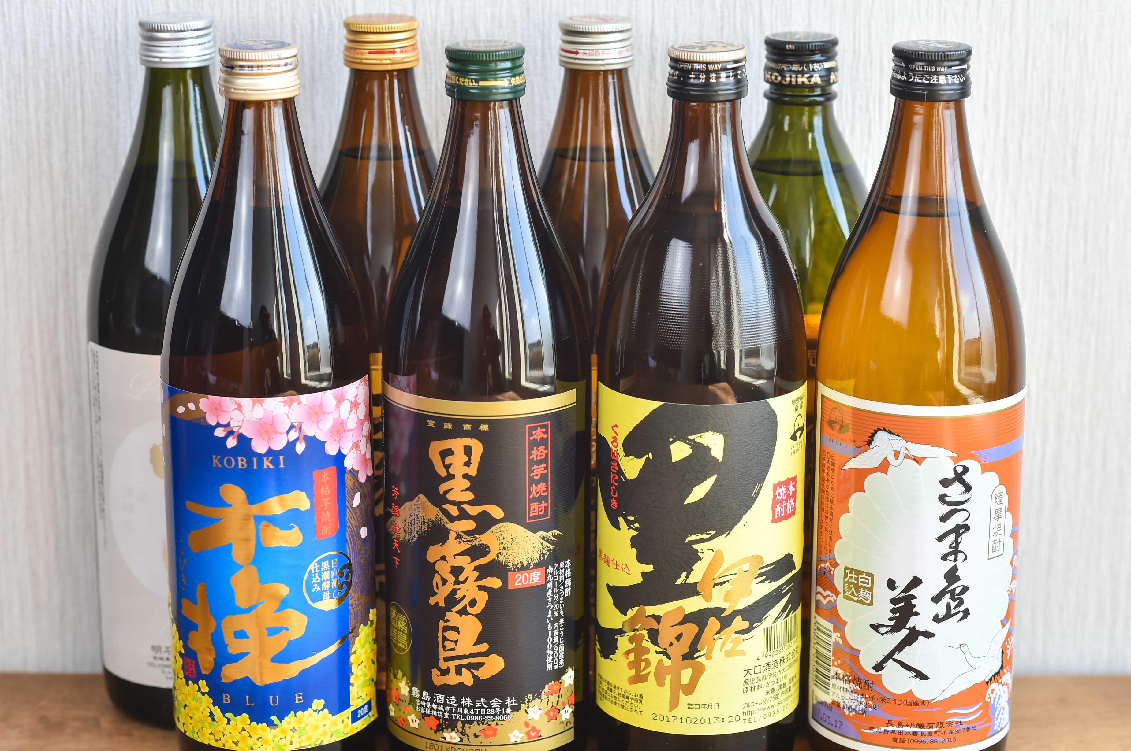 南九州を代表する焼酎各種