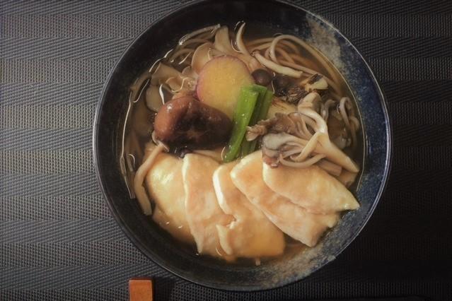 きのこ蕎麦治部煮風